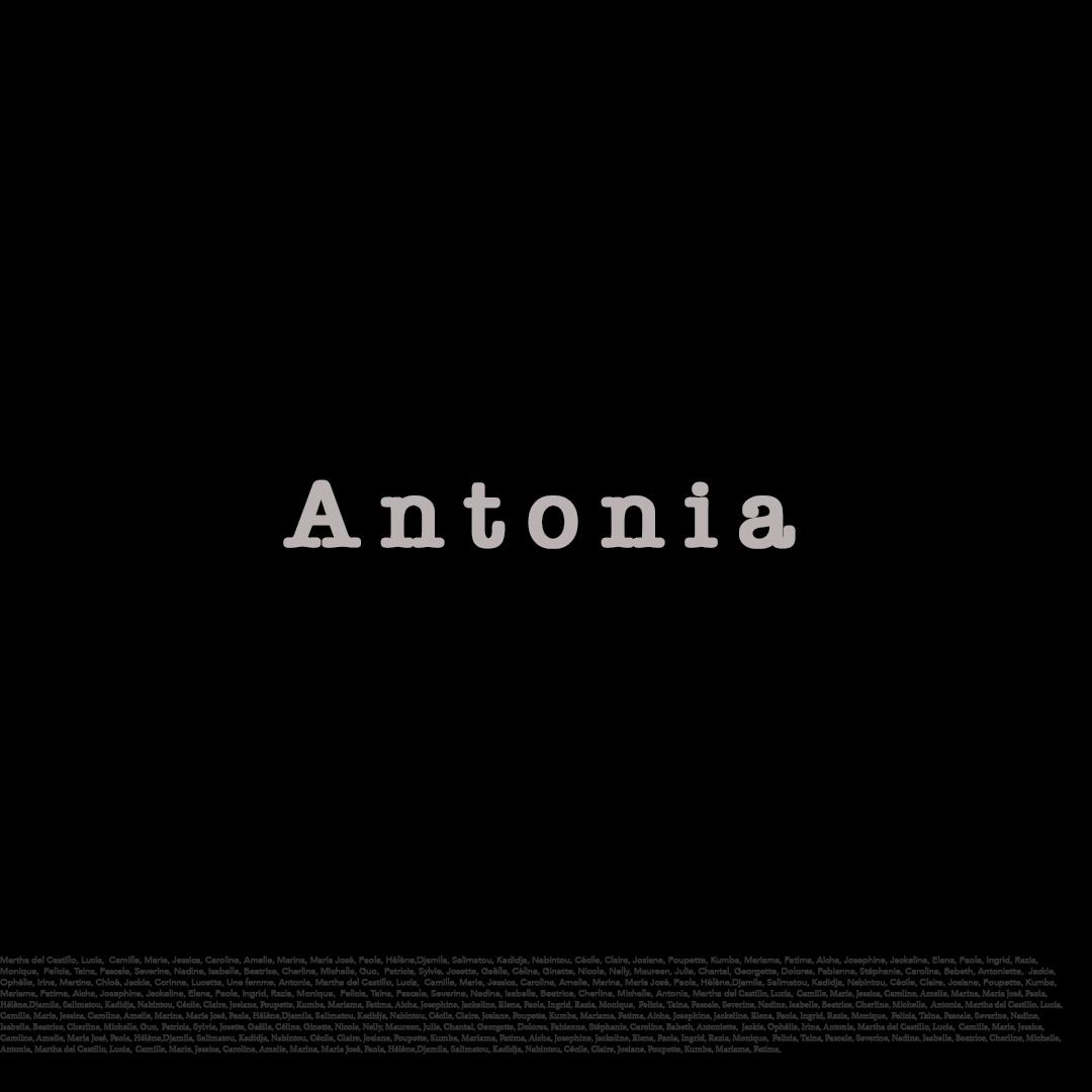 Triptyque. Prenom Antonia. Olenka Carrasco. La liste de prénoms.
