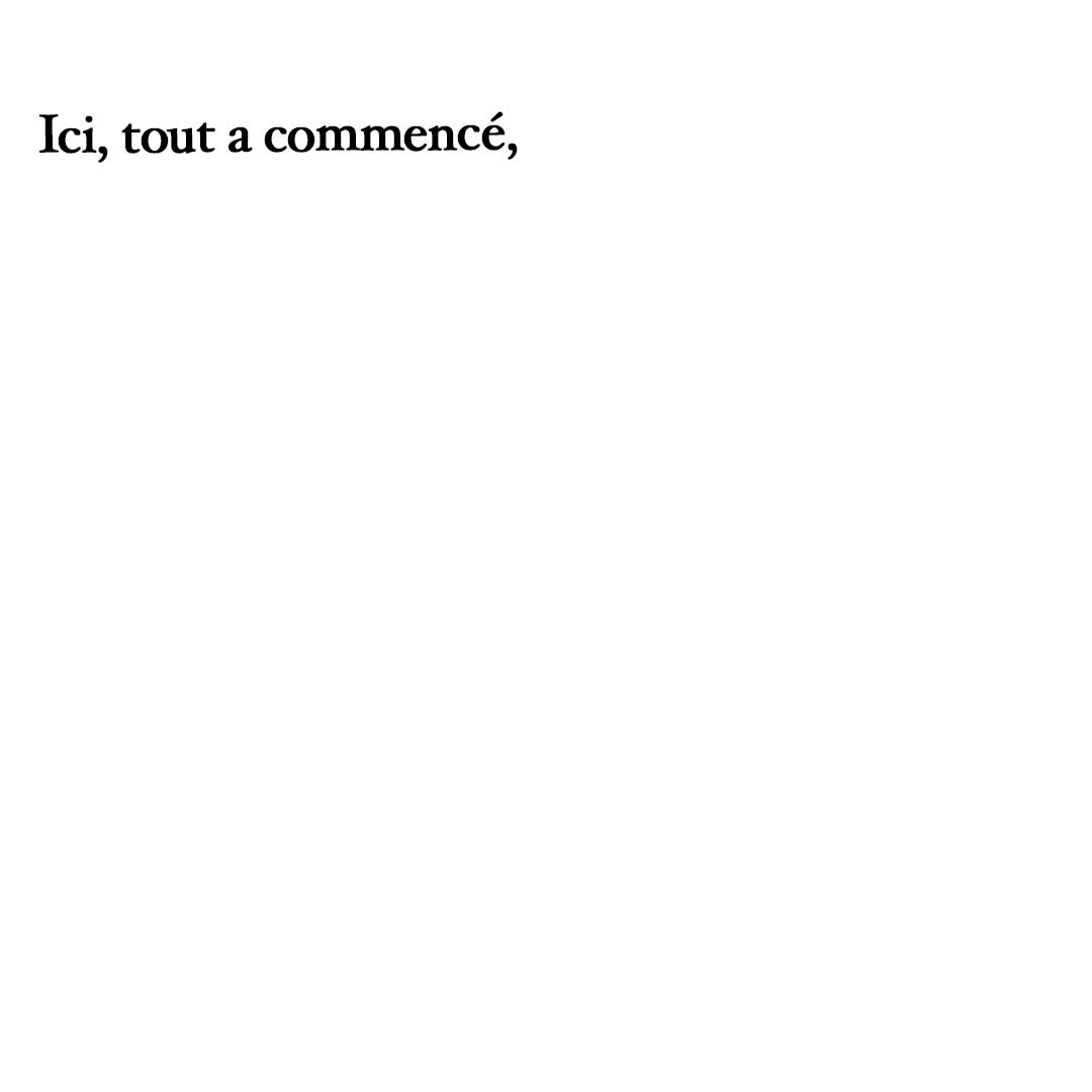 Triptyque Antonia Text Ici, tout a commence. Olenka Carrasco. La liste de prenoms.