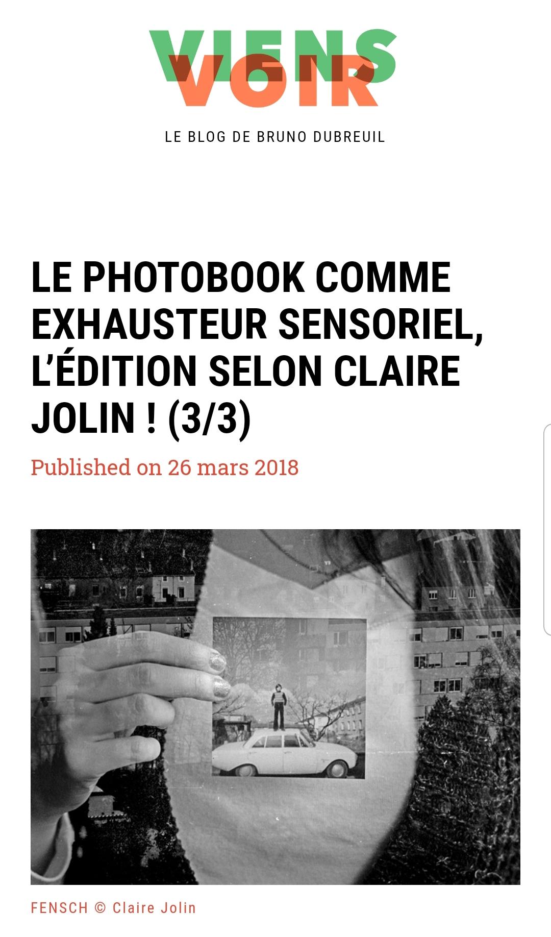 Oh my Photobook-Viens Voir-Olenka Carrasco-Claire Jolin