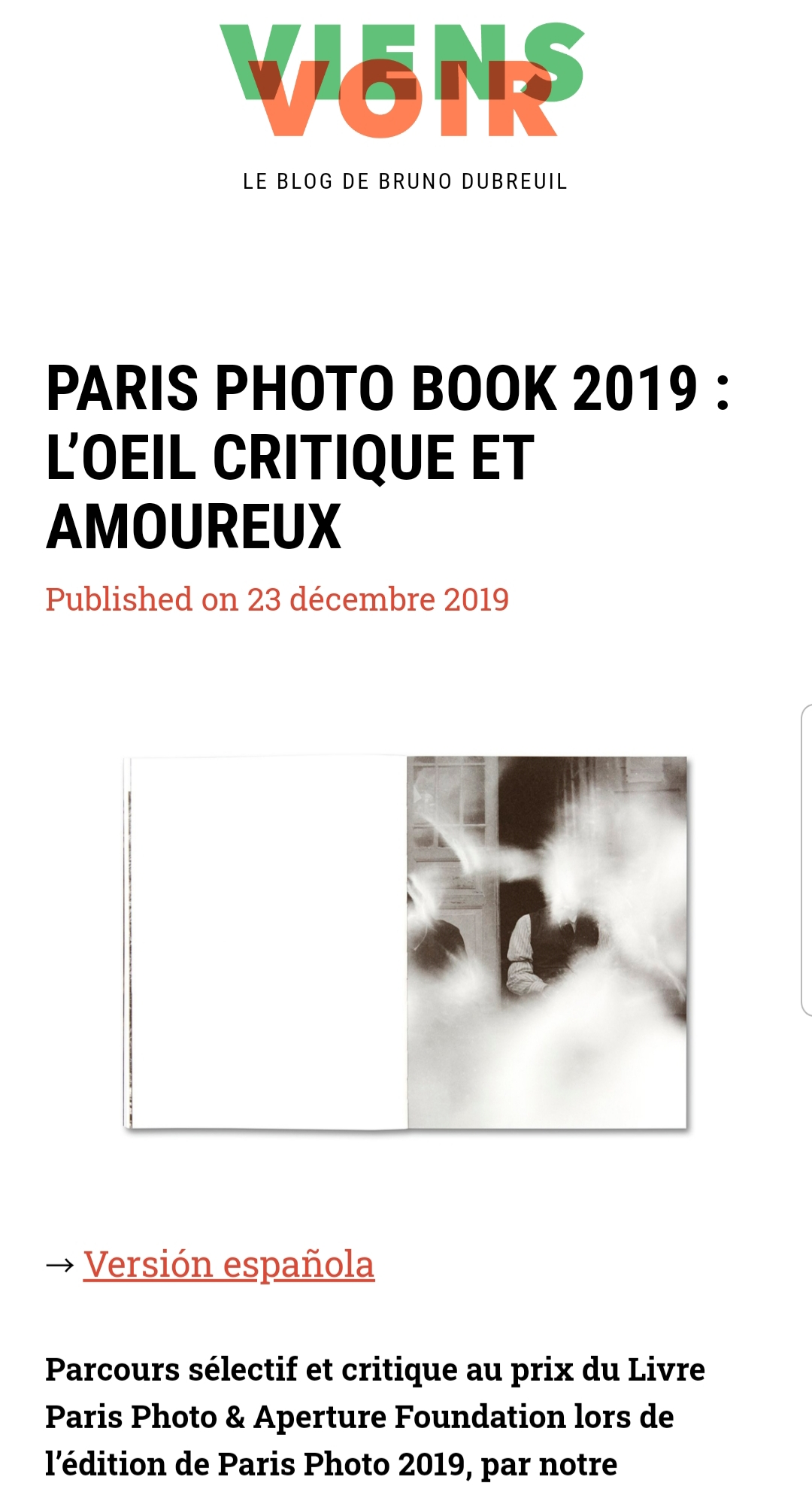 Oh my Photobook-Viens Voir-Olenka Carrasco-ParisPhoto 2019