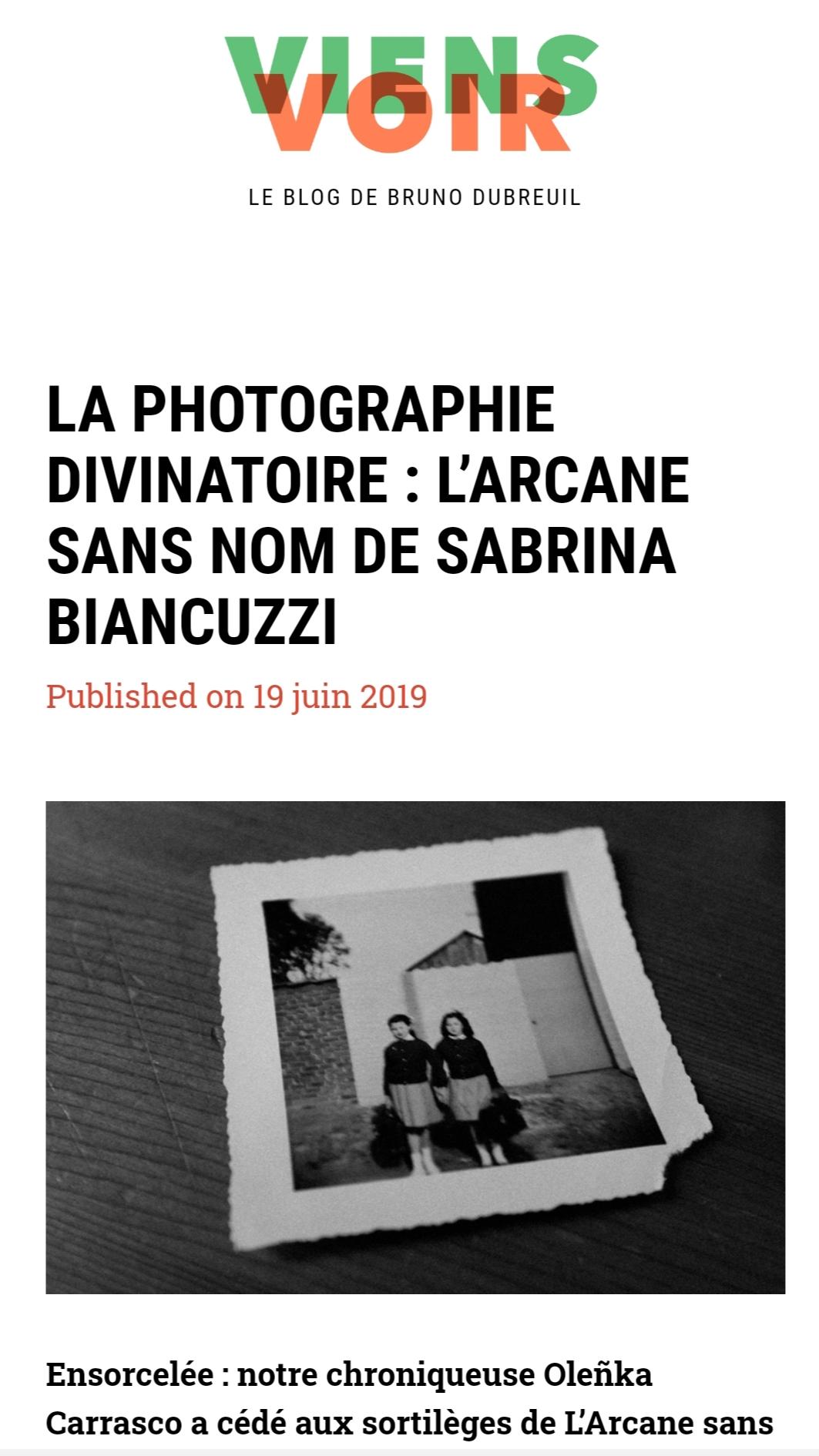 Oh my Photobook-Viens Voir-Olenka Carrasco-Sabrina Biancuzzi
