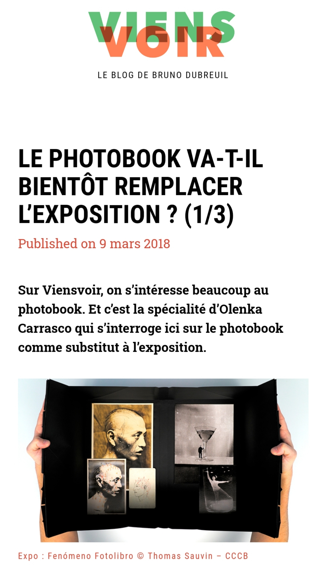 Oh my Photobook-Viens Voir-Olenka Carrasco-exposition
