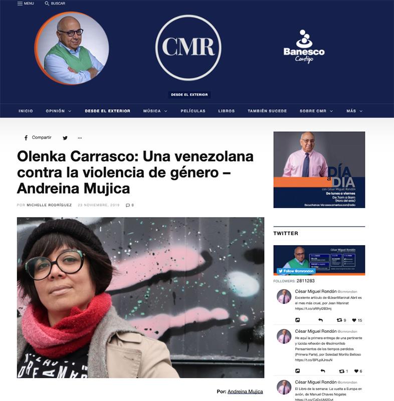 OlenkaCarrasco-CesarMiguelRondon-Nov 2019-AndreinaMujica