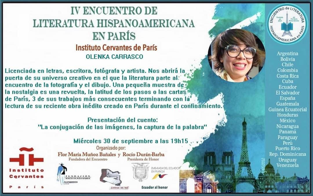 OlenkaCarrasco-EncuentroLiteraturaParis2020